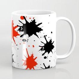 red black splash painting design Coffee Mug