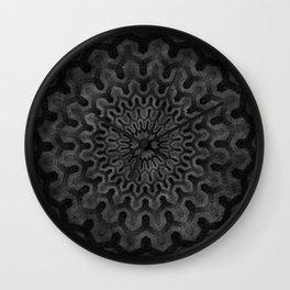 Dark Geometric mandala pattern Wall Clock