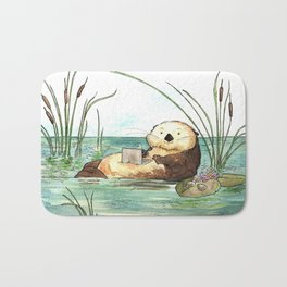 Otter on a Laptop Bath Mat