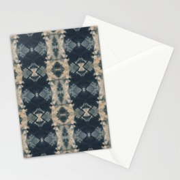 Indigo Triangles Stationery Cards