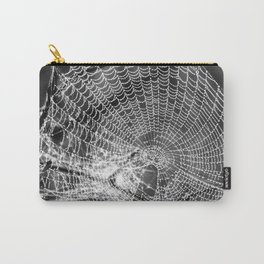 Raindrop Covered Spiderweb Carry-All Pouch