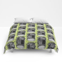Mysterious Forest Creatures In Tree Log Comforters