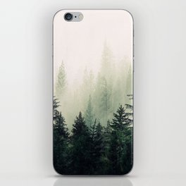 Foggy Pine Trees iPhone Skin