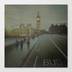 London. Over The Bridge.  Canvas Print