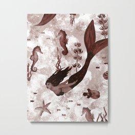 Under the Sea (Maroon) Part 2 Metal Print