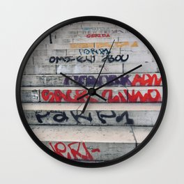 Croix Rousse stairs Wall Clock