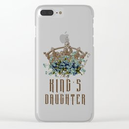 The King's Daughter Psalm 45 Floral Crown Clear iPhone Case