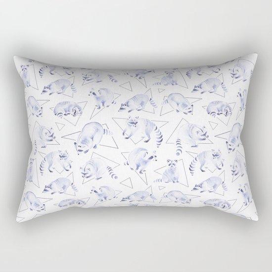 Raccoons | Triangles Rectangular Pillow