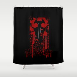 Devilman Crybaby Red v1 Shower Curtain