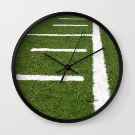 Football Lines Wall Clock