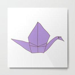 Origami Crane Metal Print