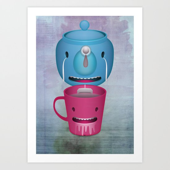 Tea Potty Art Print