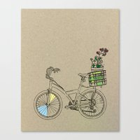 bicycle Canvas Prints featuring Bicycle by Madmi