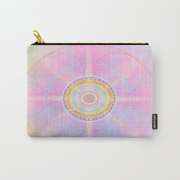 Bright Pastel Mandala Carry-All Pouch