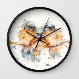 Little Bluebirds Wall Clock