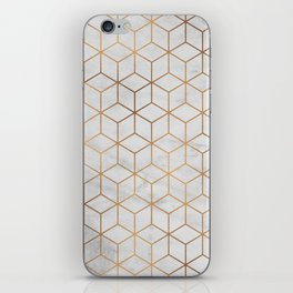 Marbled Copper Cubes iPhone Skin