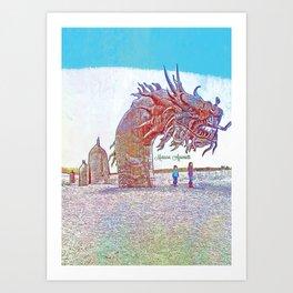 Anza - Borrego Desert Sea Dragon Art Print