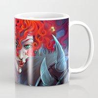 diablo Mugs featuring Diablo 3 : Female Barbarian by isangelous