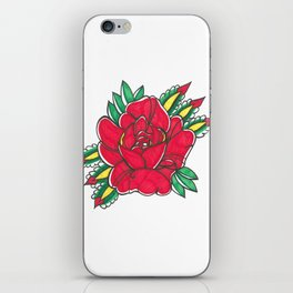 Tattoo Flower by Shane A. iPhone Skin