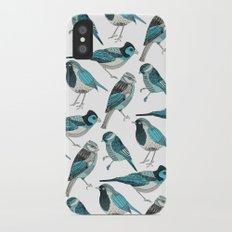 pale green birds Slim Case iPhone X