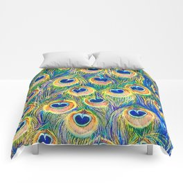 Peacock Freathers Comforters