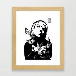 Lili + The Butterflies Framed Art Print