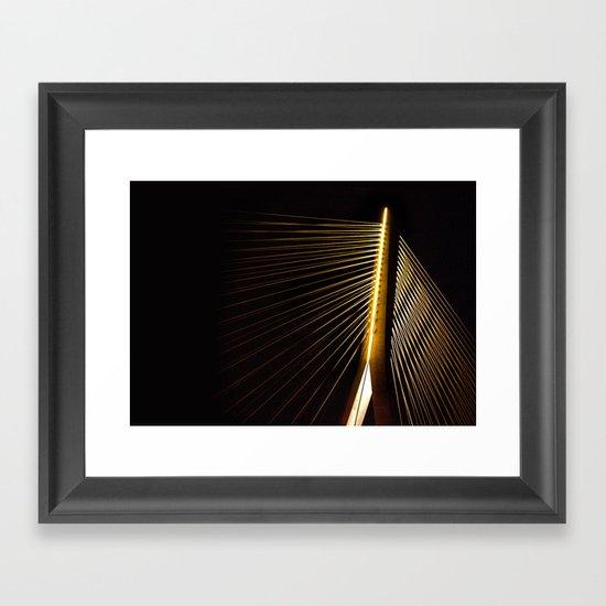 New Bridge at night Framed Art Print