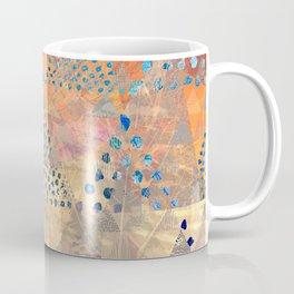 TRIANGLES DOTS LEAVES PATTERN-2 Coffee Mug