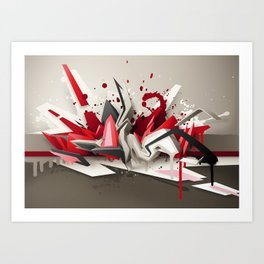 Red Metal Art Print