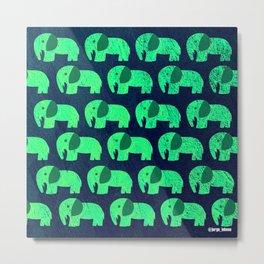 fluorescent elephant ecopop Metal Print