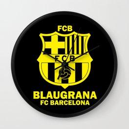 Slogan: Barcelona Wall Clock
