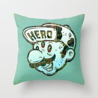 hero Throw Pillows featuring Hero by Beery Method
