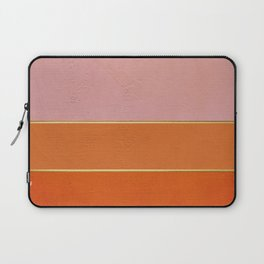 Orange, Pink And Gold Abstract Painting Laptop Sleeve