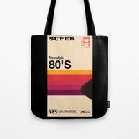 tape Tote Bags featuring Super Tape by Mathiole