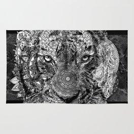 mandala tiger marble Rug