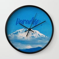 paradise Wall Clocks featuring Paradise by RDelean