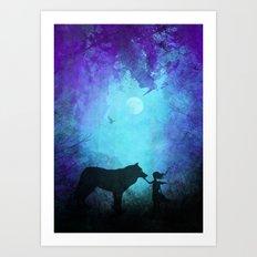 Wolf Whisperer Art Print