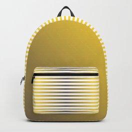 Stripes In Black & Orange Backpack
