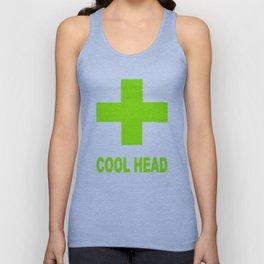 Green Cool Head Cross Unisex Tank Top