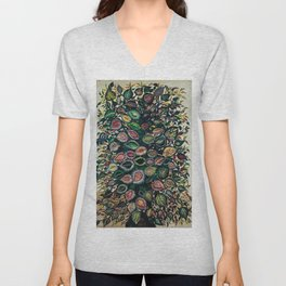 Feuilles - Leaves and Flowers by Seraphine Louis Unisex V-Neck