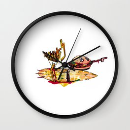 Surf Burger and Fries Wall Clock
