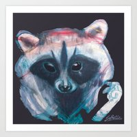 MOOSE, the raccoon  Art Print