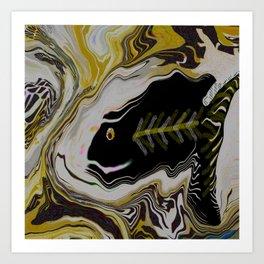 Abstract FISH ART Art Print