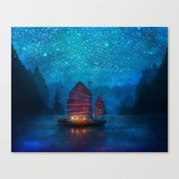 sky Canvas Prints featuring Our Secret Harbor by Aimee Stewart