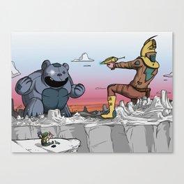 Yodel & Zap Canvas Print