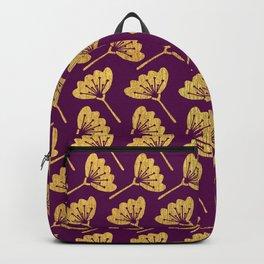 Modern Golden Florals Backpack