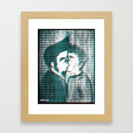 The Kiss (Colorful Mix) Framed Art Print