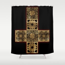 Lament Configuration Cross Shower Curtain