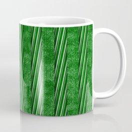 Velvety Green Candy Cane Christmas Stripe Coffee Mug