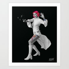 Princess Leia Strikes Back Art Print